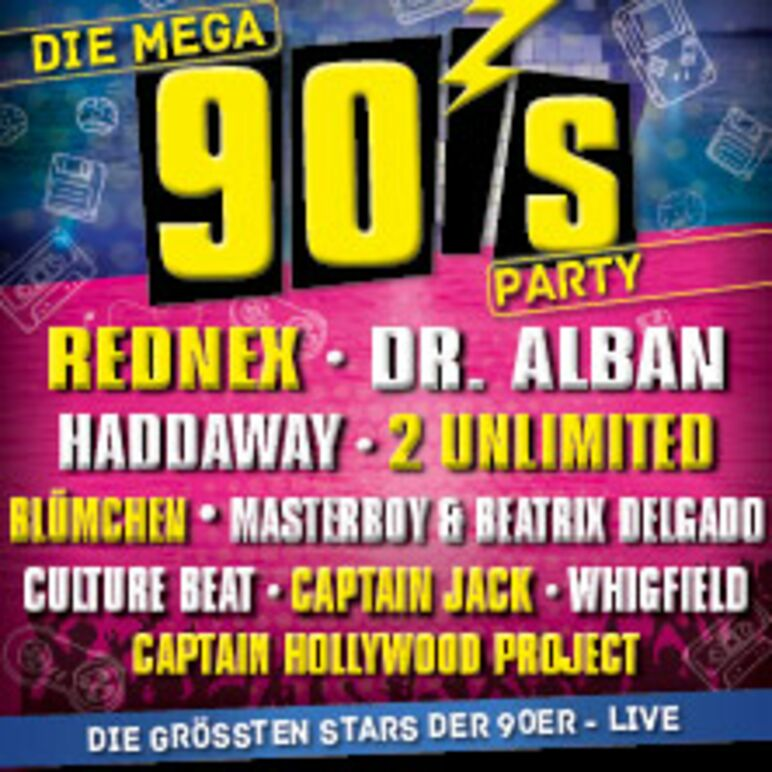 TICKETS :: Die Mega 90's Party 2019, Stadthalle Graz, Fr